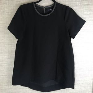 Madewell Black Formal Short Sleeve Top Size XS